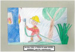 Boda Benjámin (9 éves, Nyíregyháza TINI'ART Képzős Műhely és a FREE DANCE Művészeti Iskola): Ha baj van, a tűzoltó nem viccel, mindent, ami ég, lespriccel! Felkészítő: Nagy Zoltán
