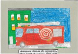 Kolészár Botond (10 éves, Nyíregyháza TINI'ART Képzős Műhely és a FREE DANCE Művészeti Iskola): Lángolnak a házak, ez már katasztrófa, szükség van a jól felszerelt tűzoltókra! Felkészítő: Nagy Zoltán