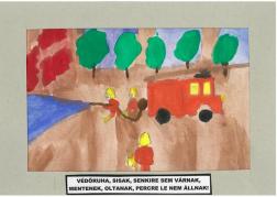 Tóth Balázs (13 éves, Nyíregyháza TINI'ART Képzős Műhely és a FREE DANCE Művészeti Iskola): Védőruha, sisak, senkire sem várnak, mentenek, oltanak, percre le nem állnak! Felkészítő: Nagy Zoltán