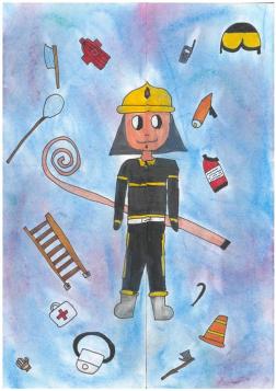 Bakó Lea (budapesti XX. kerületi Ady Endre Ált. Isk. 4. osztály): Tűzoltóság nyitva. Felkészítő: Juhász Magdolna